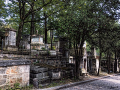 ... (Jean S..) Tags: cemetery graves graveyard street pèrelachaise stone old ancient outdoors trees