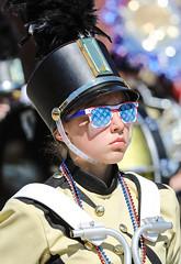 Patriotic Glasses (wyojones) Tags: codystampedeparade wyoming cody band bandmember drummer sunglasses patriotic redwhiteandblue july4th fourthofjuly southhighschool cheyenne highschoolband wyojones