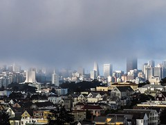 My city was gone. ... (g1rlwithacurl) Tags: architecture transamericapyramid sanfranciscofog fog sanfranciscoskyline city skyline sf sanfrancisco g1rlwithacurl