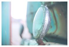 Cyanlite (leo.roos) Tags: lamp car rust roes cyan turquoise swirly hugomeyerkinoniiif35cm projectorlens projectionlens july2018classicprimes week35 dyxum challenge darosa leoroos
