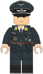 Render Luftwaffe-continental Uniform (Desert fox Customs) Tags: ww2 wwii lego luftwaffe render uniform custom minifig decals officer