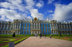 Catherine Palace in St. Petersburg, Russia (phuong.sg@gmail.com) Tags: architecture autumn balcony balustrade building catherine column cornice cross crucifix culture dome elaborate europe exterior external façade garden gilded gilt gold heritage historic museum old outside palace pedestal people pillar pushkin residence restored rococo russia saintpetersburg sculpture statue stucco tsars visit
