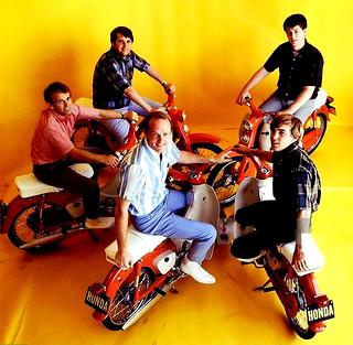 The Beach Boys on Honda 50s.