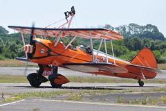 N74189 (2) (goweravig) Tags: n74189 visiting boeing stearman kaydet aircraft aerosuerbatics wingwalkers 2 swanseaairport wnas18 swansea wales uk biplane