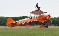 N74189 (2) (goweravig) Tags: n74189 visitng aircraft boeing stearman kaydet swanseaairport wnas18 aerosuperbatics wingwalkers 2 biplane swansea wales uk