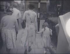 In East Barnet 1956 (Bury Gardener) Tags: bw blackandwhite oldies old snaps scans people 1950s 1956 england barnet london uk britain