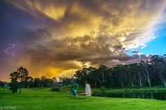 thunderstorm over Sydney (Tschissl) Tags: australia wolkenformation gewitter abendstimmung landscape landschaft wasser sydney macquariepark newsouthwales australien au