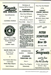 Albany senator's baseball team program  Hawkin's stadium  circa  1950 (albany group archive) Tags: menands wagars ice cream heinrich beverages standard furniture old albany ny vintage photos picture photo photograph history historic historical