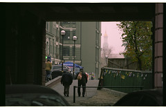 Podil district. Near Kontraktova metro station (mgerasym) Tags: kiev kyiv ukraine ua film 35mm nikonf65 tokinaatxpro2870 fujipro160c