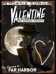 Fallout 4 - Valentine Comic (OChenery) Tags: fallout 4 nick valentine detective artwork comic book cover gaming