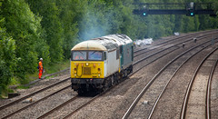 9Y0A4559 (kevaruka) Tags: tupton tuptonbridge derbyshire chesterfield erewash countryside summer 2018 june colour colours england class56 class50 class20 grid hoover choppers 56103 canon canoneos5dmk3 canon5dmk3 canon70200f28ismk2 canonef100400f4556l 5d3 5diii 5d 5dmk3 trains telephototrains britishrail networkrail heritage historic locomotive composition outdoors yellow grey orange blue railway rail flickr thephotographyblog frontpage