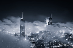 (6.18.18)-360_Fog-WEB-1 (ChiPhotoGuy) Tags: chicago architecture skyline cityscape clouds cloudporn fog foggy chasingfog weather night dusk bluehour observatory moody