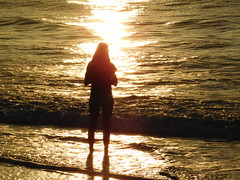 Wish... (saltlifebeach5443) Tags: sunset setting goingdown water waterscape landscape person people woman girl beach ocean saltwater sand shoreline waves silhouette sparkling shadows castingshadows sea seaside unedited