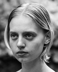126. (jspic3) Tags: follow like new amateur beginner light natural image headshot portrait blonde cute beautiful woman firl 365 a7riii sony monochrome w b white black blackwhite