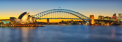 Sydney Opera House and Harbour Bridge (tehhanlin) Tags: australia nsw sydney sydneyharbourbridge sydneyoperahouse sonysg sonysingapore a7rm2 sunset bluehour photography cityscape landscape fe85gm ngc