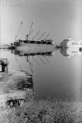 Belfast Docks 24062018 - 022 (irishlad031_vintage) Tags: belfast beirax browniecamera blackwhite ulster ulsterisirish irishlad031vintage irishlad031 irish film ireland vintagephotography cityscape coantrim docks titanicquarter 120mmfilm 120mm mediumformat