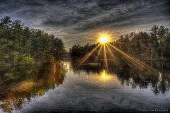 Pennichuck Sunset (Pearce Levrais Photography) Tags: sunset summertime hdr canon landscape outside outdoor nature forest lake pond reflection picoftheday photooftheday nh newhampshire thebestofhdr