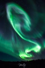 Feeling (Valeria Sig) Tags: iceland auroraborealis sky heaven green winter