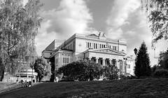 National Opera (KPPG) Tags: 7dwf bw schwarzweis architektur architecture riga lettland latvia opera gebäude building city stadt stadtansicht clouds wolken himmel