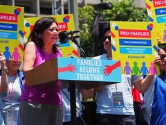 L.A. County Supervisor Hilda L. Solis attends the Families Belong Together March (lukeharold) Tags: families belong together gavin newsom kamala harris