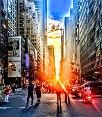 A 57th street view of Manhattanhenge (dannydalypix) Tags: sunset metropolis gothamist gotham 57thstreet nyc newyork newyorkcity manhattanhenge manhattan