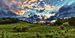 8R9A2317-22Ptzl1TBbLGERk2 (ultravivid imaging) Tags: ultravividimaging ultra vivid imaging ultravivid colorful canon canon5dm3 clouds sunsetclouds stormclouds scenic sky sunset rural summer lateafternoon twilight trees fields farm barn pennsylvania pa panoramic landscape painterly vista