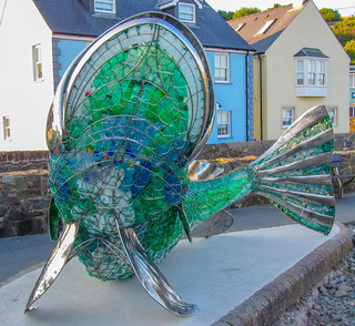 Wire and Plastic Sculpture, Amroth, Pembrokeshire. Wales. UK,