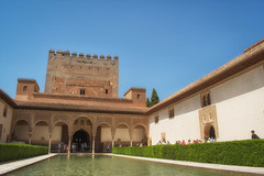 Nasrid Palace, Alhambra (JDWCurtis) Tags: alhambra nasrid palace nasridpalace spain granada water sky hedge green blue history historicalmonument historical lines building buildings historicbuildings historicbuilding pillars pillar tourism tourists holiday people