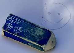 Eraser often used (BrigitteE1) Tags: macromondays eraser erasers old used mm oftenused oftbenutzt radiergummi hmm smile