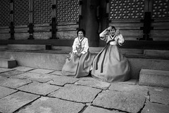 Korean style (alexhaeusler) Tags: korea blackwhite street people tradition seoul