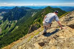 Don't Look Down! (KPortin) Tags: mcclellanbutte wilbur steep scramble mountains