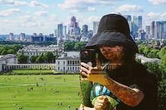 Tourist Season (tanyalinskey) Tags: hatsandco hat selfie tourist girl person doubleexposure 7dwf smileonsaturday landscape