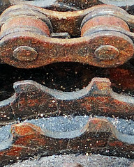 Transportation. (karl from perivale) Tags: transportaion rust bicycles gears chain macromonday macromondays macro old hmm