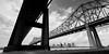 Connections (Scott Mohrman Photography) Tags: crescent photography mohrman scott monochromatic blackandwhite landscape cityscape skyscrapers skyscraper skyline urban city bridges bridge louisiana neworleans nola