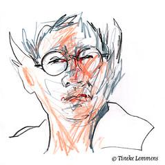 Scribble-portrait 7 (Tineke Lemmens) Tags: tinekelemmens portraits colored pencils
