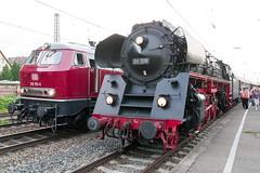 218 155-0 und 01 519 (Disktoaster) Tags: eisenbahn zug railway train db deutschebahn locomotive güterzug bahn pentaxk1 westfalendampf 2181550 dampflok steamer steamlocomotive