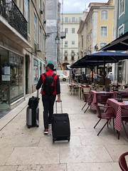 Traveling in Europe (nan palmero) Tags: boost ultraboost adidas vest northface pt portugal lisboa lisbon suitcase luggage travel nanpalmero