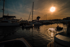 Evening light... (Dafydd Penguin) Tags: evening light sun sunset silhouette water port harbour harbor porto marina cruising cruise yacht yachting boat boating sailboat rib harbourside waterside quay quayside mediterranean nettuno italy coast coastal leice m10 elmarit 21mm f28