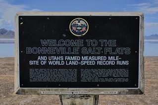 Bonneville Salt Flats, state of Utah, USA