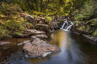 Waterfall stream, Arran, Scotland.