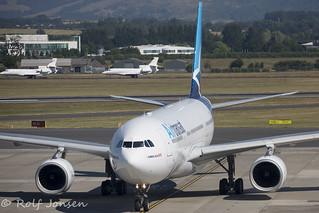 C-GUPH Airbus A330-200 Air Trasat Glasgow airport EGPF 03.07-18