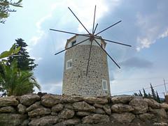 Mill Kos Island (JaapCom) Tags: jaapcom kos island molen mill moulin molino molinos mühle landscape greece historisch clouds platani