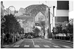 Sydney Harbour Bridge (~ veronicajwilliams photography ~) Tags: veronicajwilliamsphotography veronicajwilliams copyrighted sydney nsw sydneyharbourbridge cityofsydney bridge engineering australia fuji fuji18135 fujixt20 fujifilm fujiaustralia fujifilmxt20 travelphotography travel travelling traveling bw blackandwhite road street shops icon iconic photoshop