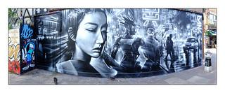 Street Art (Dan Kitchener), East London, England.