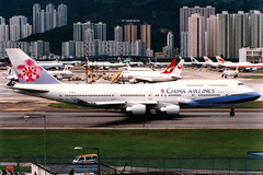 China Airlines   Boeing 747-400   B-18201   Hong Kong Kai Tak (Dennis HKG) Tags: aircraft airplane airport plane planespotting skyteam hongkong kaitak vhhx vhhh hkg chinaairlines dynasty taiwan cal ci b18201 boeing 747 747400 boeing747 boeing747400