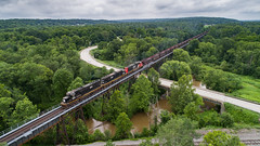 Osgood Trestle (benpsut) Tags: cn1028 dji djiphantom4pro drone ic ic1028 illinoiscentral osgood osgoodtrestle phantom4 phantom4pro aerial aerialphotography ore oretrain photography railroad trains trestle