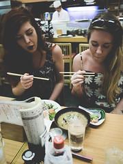 sushi 5 AM (hokkaido.angler) Tags: tokio tokyo fishmarke sushi 5am fischmarket fishmarket fischmarkt tsukiji engländerinnen longhairs girls sexy eating goodmorning chef chefcook suhi sishichef sashimi miso soup hashi stäbchen chopsticks sexygirls sexygirl salad soy soysauce wasabi spicy leica summilux gm1 500px magnum magnumphoto panasonic