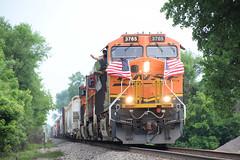 American Spirit! (wc_sd45_7500) Tags: bnsf american flag usa brcntw c449w es44c4 es44 saint paul park 4th july train trains railroad locomotive