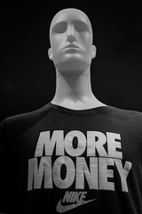 no more questions! (Werner Schnell Images (2.stream)) Tags: ws more money no questions tshirt nike dummy mannequin schaufensterpuppe