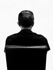 Scusate le spalle (marcus.greco) Tags: portrait blackandwhite man surreal back conceptual